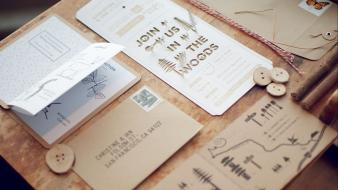 Wood typography postcards mail wallpaper