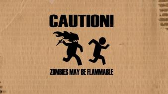 Zombies caution wallpaper