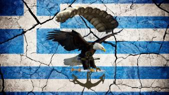 Airborne special air service parachute greek flag wallpaper