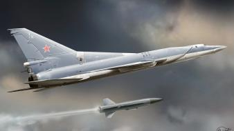 Aircraft bomber russian air force tu-22m3 missle jet Wallpaper