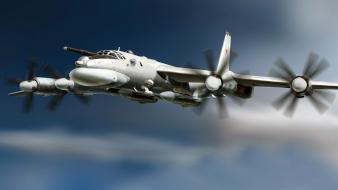 Aircraft bomber soviet tu-95 bear russian air force wallpaper