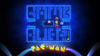 Arcade glowing mazes game over pac-man retro wallpaper