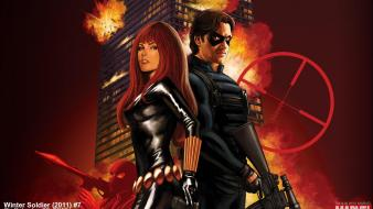 Black widow marvel comics widescreen wallpaper
