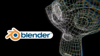 Blender wireframe 3d ape suzanne wallpaper
