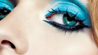 Blue eyes noses eye shadow wallpaper