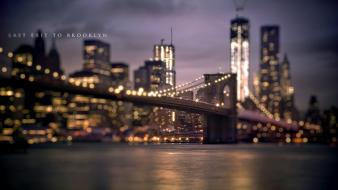 Bridges brooklyn bridge usa new york city wallpaper