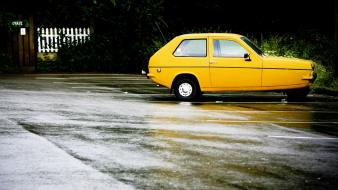 Cars vehicles reliant robin yellow wallpaper