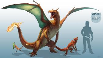 Charmeleon digital art artwork charizard charmander caterpie wallpaper