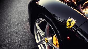 Close-up cars ferrari vehicles emblem Wallpaper