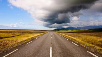 Clouds landscapes nature national geographic iceland roads wallpaper