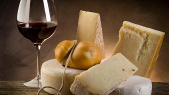 Food cheese wine wallpaper