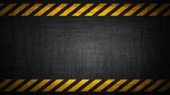 Grunge warning industrial plants danger stripes Wallpaper