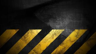 Grunge warning stripes hazard wallpaper