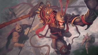 Heavenly havoc artwork palace wukong monkey king wallpaper