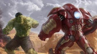 Hulk (comic character) iron man concept art wallpaper