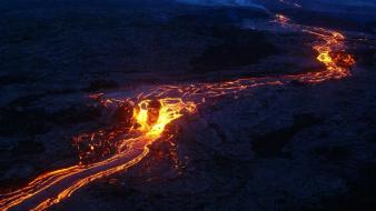 Landscapes nature volcanoes lava rocks magma wallpaper