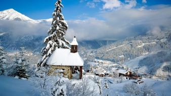 Landscapes snow trees wallpaper