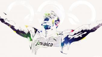 Legendary jamaica olympics artwork usain bolt 2012 wallpaper