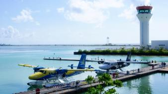 Maldives seaplane dhc-6 twin otter Wallpaper