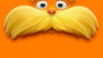 Movie posters dr. seuss orange background the lorax wallpaper