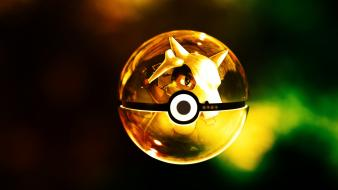 Multicolor digital art cubone 3d fan pokeball wallpaper
