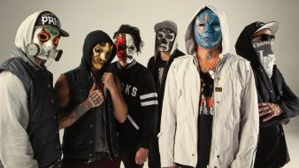 Music masks band hollywood undead rap metal wallpaper