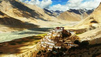 Nature national geographic villages monastery buddhist himalaya wallpaper
