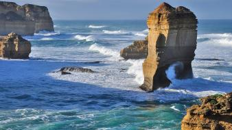 Nature waves national geographic australia seascapes rock formations wallpaper