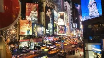 Night new york city times square Wallpaper