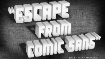 Oldschool font movie posters comic sans typefaces wallpaper