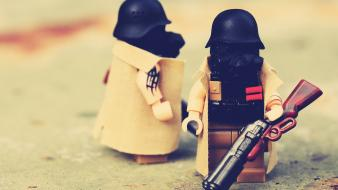 Shotguns gas masks legos Wallpaper