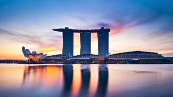 Singapore town skyscrapers marina bay sands cities wallpaper