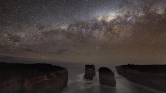 Stars cliffs national geographic milky way australia wallpaper