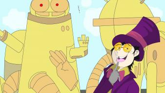 Suit glasses superjail cane the warden wallpaper