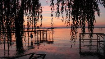 Sunset hungary lake balaton wallpaper
