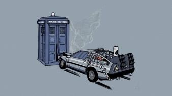 The future doctor who crossovers delorean dmc-12 Wallpaper