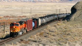 Trains locomotives bnsf widescreen wallpaper