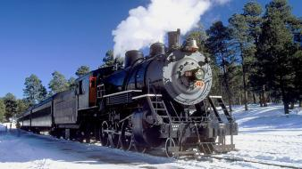 Trains steam train locomotives widescreen 2-8-0 wallpaper