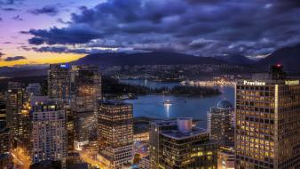 Vancouver city skyline wallpaper