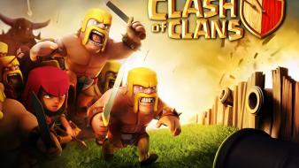 Video games clash of mobile game clans wallpaper