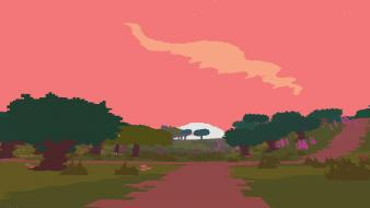 Video games dawn retro screenshots high contrast proteus wallpaper