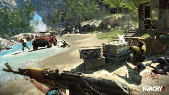 Video games fps assault rifle far cry 3 wallpaper
