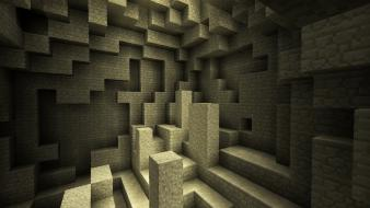 Video games sand cave minecraft pc wallpaper