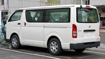White cars van (vehicle) toyota hiace wallpaper