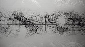 World text grayscale maps map Wallpaper