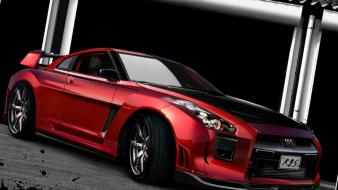 3d sports nissan gt-r car v-spec r3s-gtr wallpaper