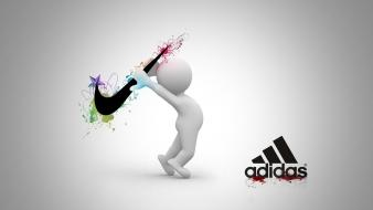 Abstract minimalistic adidas nike wallpaper