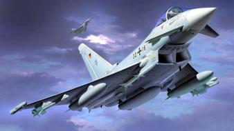 Aircraft airplanes eurofighter typhoon artwork german wallpaper