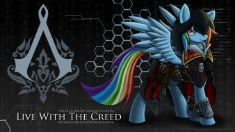 Assassins creed my little pony rainbow dash crossovers wallpaper