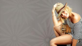 Blondes dress smiling hats kimberly caldwell wallpaper